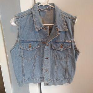 Bill Blass Vintage Jean Vest size Medium